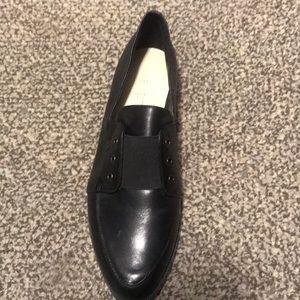 Black loafers Nine West.